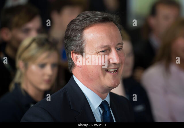 David Cameron Prime Minister of the United Kingdom and Conservative Party Leader speaks at a debate on the European - Stock Image