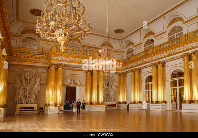 Russia St.Petersburg, Winter Palace, Armorial hall - Stock Image