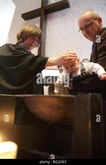 Baptism . Duelmen , - Stock-Bilder