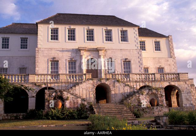Jamaica Rose Hall Great House Montego Bay - Stock Image
