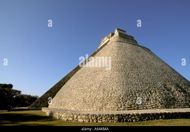 Yucatan Mexico mx Uxmal Pyramid - Stock Image
