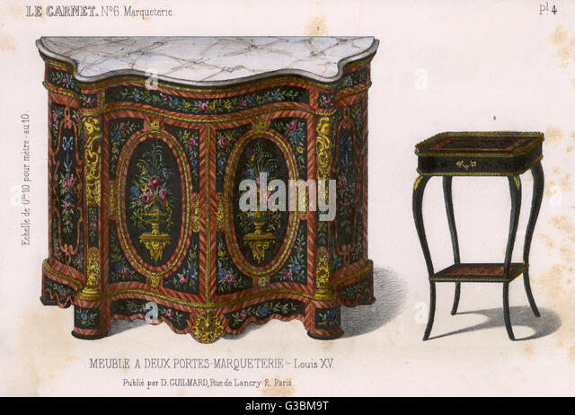 Marquetterie stock photos marquetterie stock images alamy - Meuble style louis xv ...