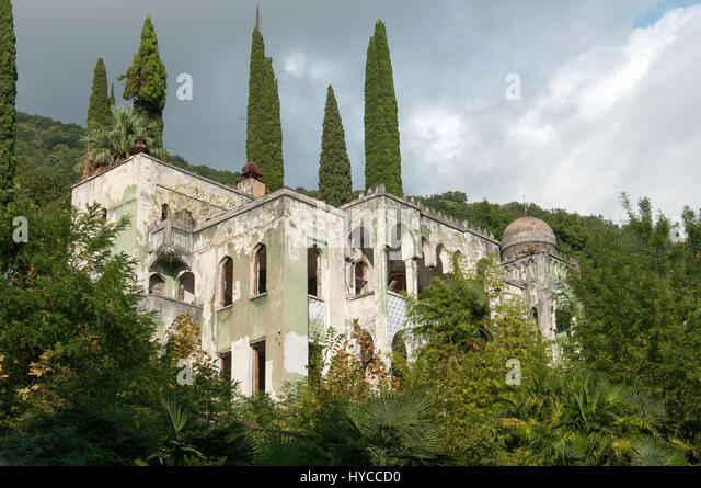 Old house, Old Gagra, Abkhazia, August 31, 2016 - Stock Image