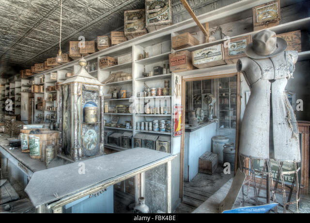 The General Store, Boon's Store, Bodie Ghost town, Mono County, California, USA, CA. Fabulous Ghost Town kept - Stock Image