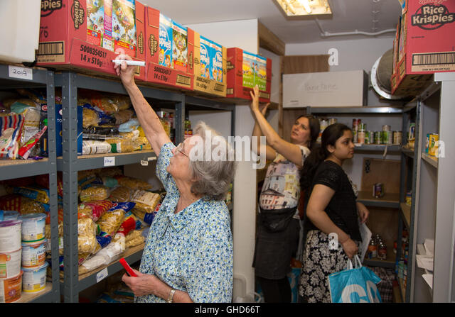 Volunteers at Paddington Food Bank - Stock Image