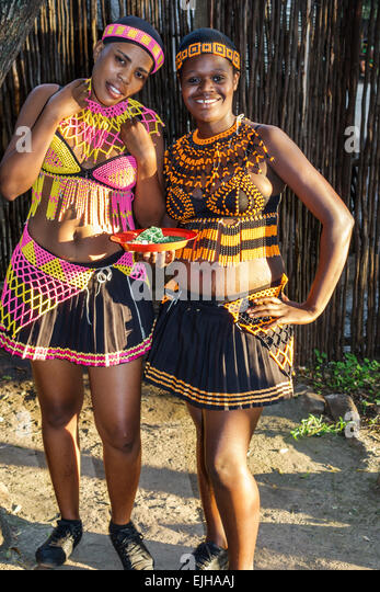 Johannesburg South Africa African Lesedi African Lodge & Cultural Village Zulu Xhosa Pedi Basotho Ndebele tribes - Stock Image