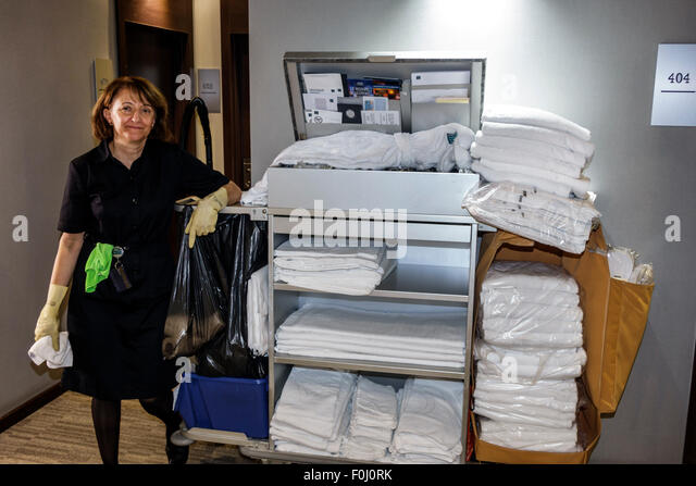 Resort Cleaning Services : Housekeeping cart stock photos