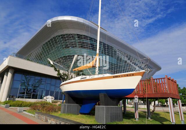 National Maritime Museum, Busan, South Korea, Asia - Stock Image