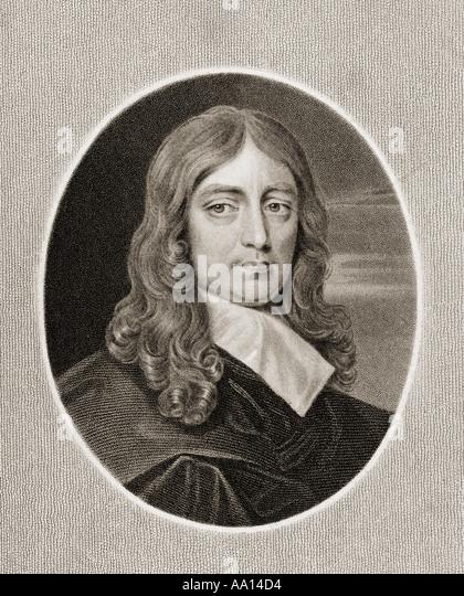 JOHN MILTON 1608 1674 English poet - Stock Image