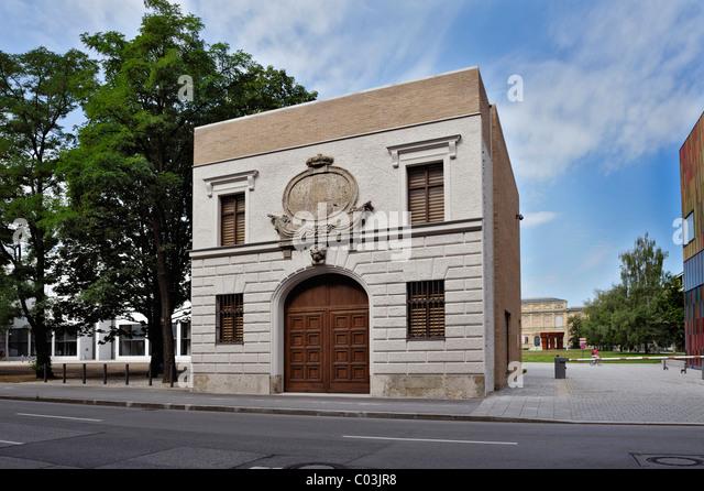 The Turkish Gate, location for art, Tuerkenstrasse, Munich, Bavaria, Germany, Europe - Stock Image