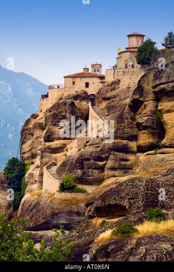 The monastery of Varlaam Moni Varlaam at Meteora and Kalambaka Greece - Stock-Bilder