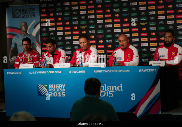 Newcastle upon tyne uk 8 october 2015 the tongan rugby squad