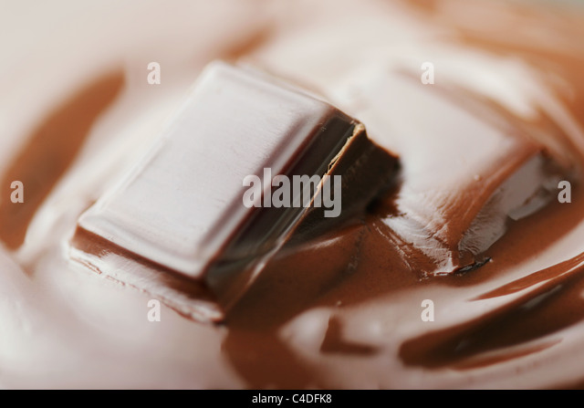 melting chocoloate - Stock Image