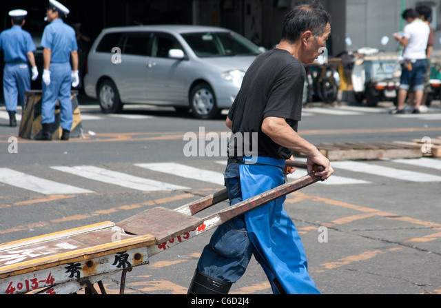 Market Worker - Stock Image