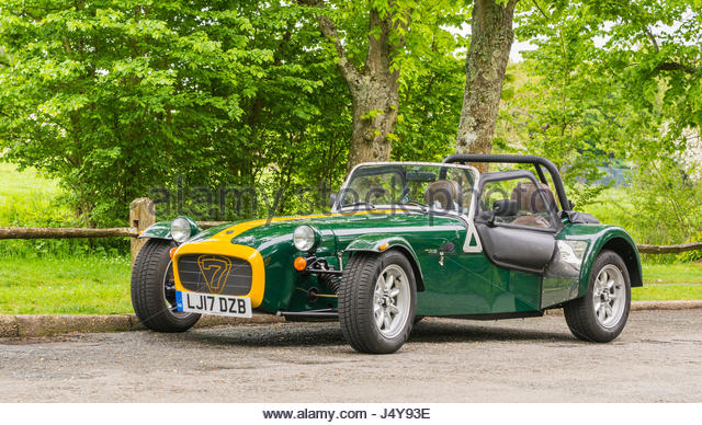 Caterham Seven 270S lightweight sports car parked in the countryside. - Stock Image