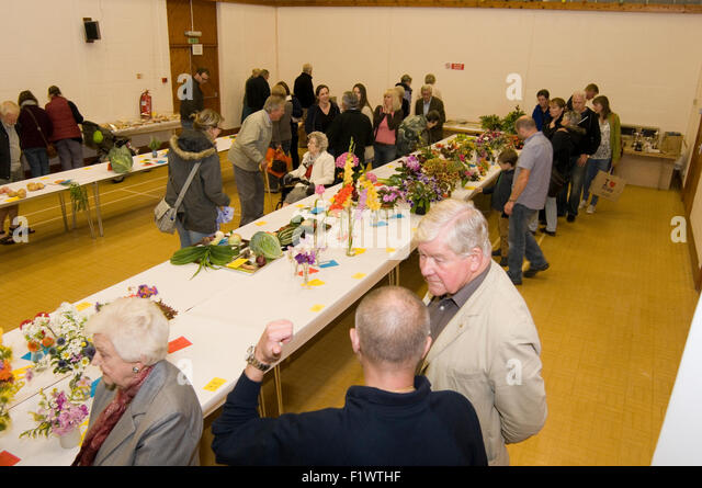 village fete fair fayre fairs English villages community england british britain great tradition competition vegetable - Stock Image