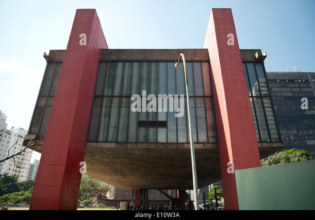 The Sao Paulo museum of Art, MASP. - Stock Image