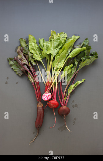 Assorted beetroots - Stock Image