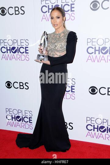 Los Angeles, CA, USA. 18th Jan, 2017.  Jennifer Lopez. 2017 People's Choice Awards 2017 Press Room held at the - Stock Image