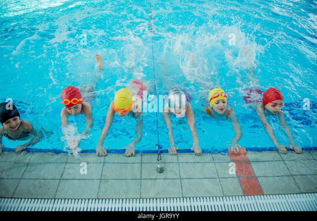 Swimming Lessons Children Stock Photos Swimming Lessons Children Stock Images Alamy
