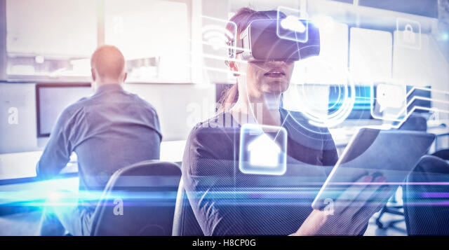Composite image of futuristic technology interface - Stock Image