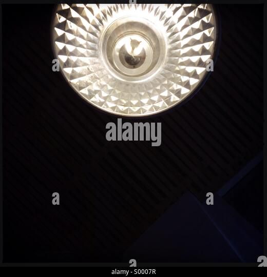 Industrial lampshade - Stock Image
