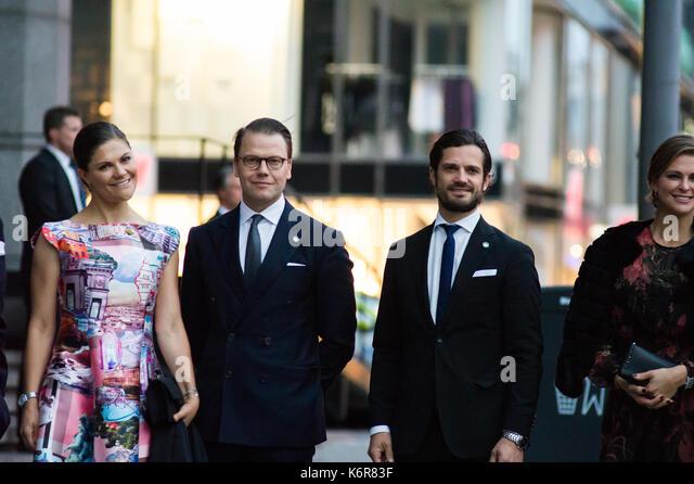 Stockholm, Sweden, 12th September, 2017. Opening of the Riksdag. Tonights concert at Stockholm Concert Hall, due - Stock Image