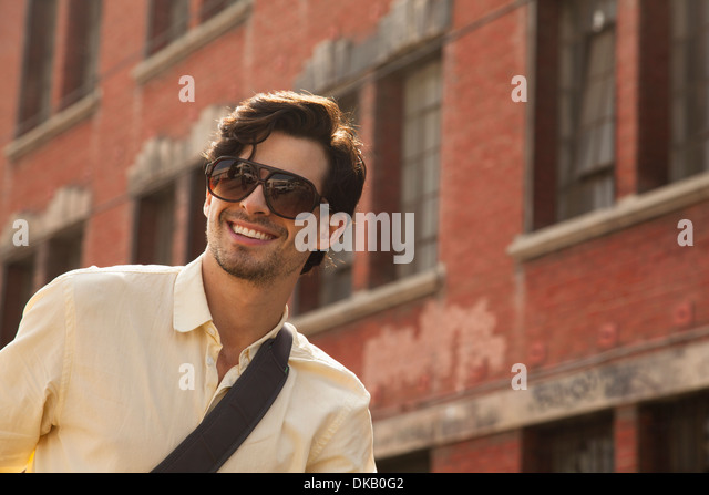 Portrait of young man, Los Angeles, California, USA - Stock Image