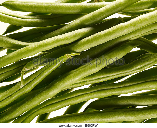 Fresh String beans - Stock Image