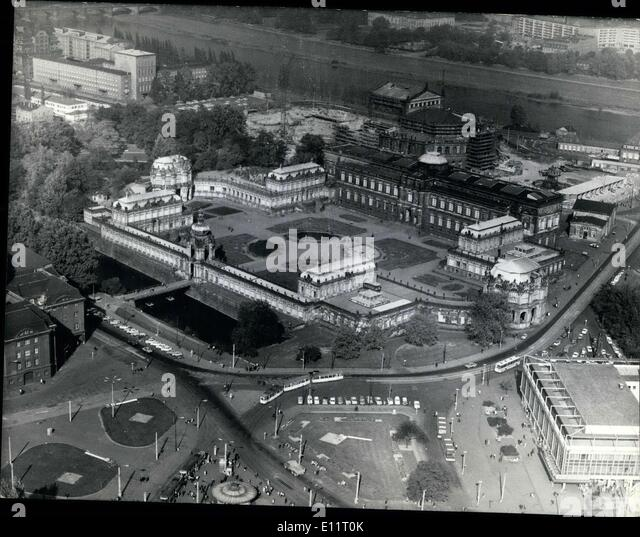 Jan. 30, 1980 - Dresden is again a world metropolis of art. From a bird's perspective we can see the Dresden - Stock Image