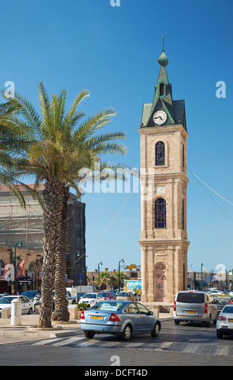 old jaffa clocktower in tel aviv old town israel - Stock Image