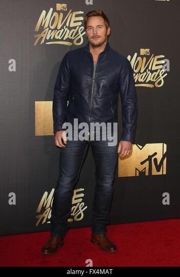 Burbank, CA, USA. 9th Apr, 2016. 09 April 2016 - Burbank, California - Chris Pratt. 2016 MTV Movie Awards held at - Stock Image