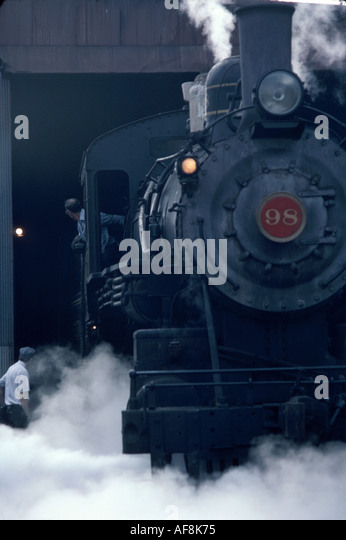 Delaware Price's Corner Wilmington and Western Railroad steam engine locomotive Red Clay Valley excursion - Stock Image