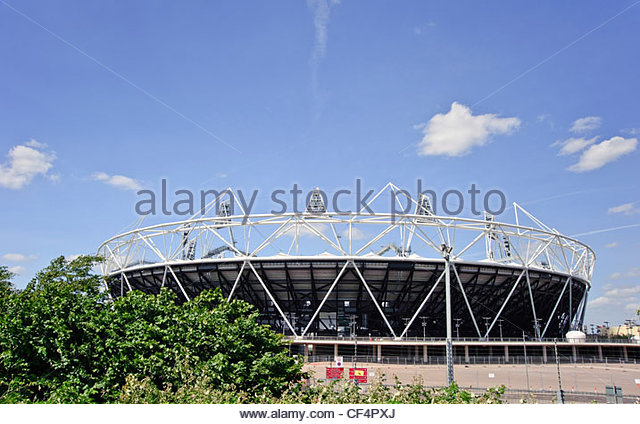 The Olympic stadium in Stratford, host to the athletics events, opening and closing ceremonies of the London 2012 - Stock Image