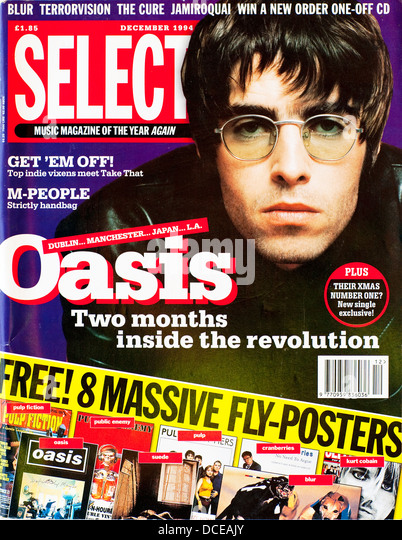 Select Magazine - December 1994, Liam Gallagher from Oasis - Stock Image