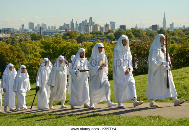 London, UK. 22nd Sep, 2017. British Druid Order celebrate 300 years of modern Druidry with their annual Autumn Equinox - Stock Image