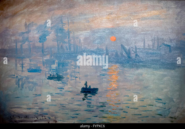 Impression Sunrise, by Claude Monet, 1872,  Musee Marmottan Monet, Paris, France, Europe - Stock Image