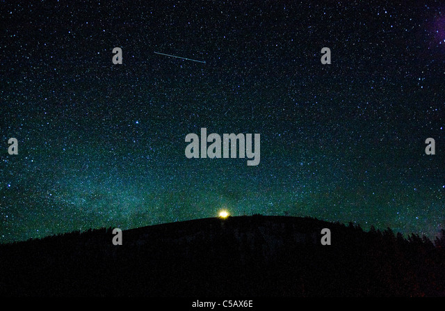 Star filled sky near Monarch Pass, Sawatch Range, Chaffee County, Colorado, USA. - Stock Image