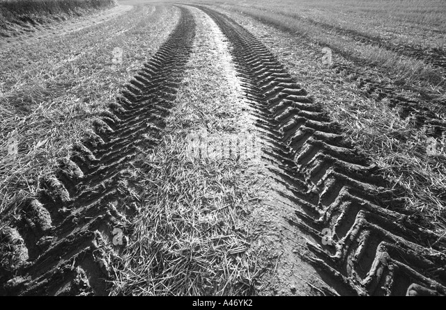 Tractor Tread Pattern : Ploughed black and white stock photos images alamy