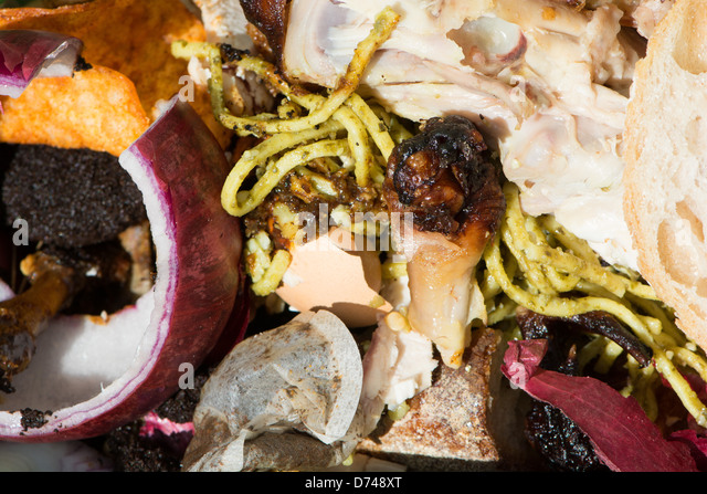 Food waste in a food recycling bin. UK, 2013.. - Stock Image