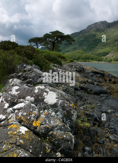Loch Hourn in the Knoydart area of Scotland - Stock Image