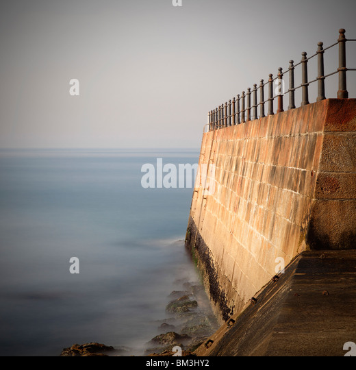 Pier by the sea - Stock Image