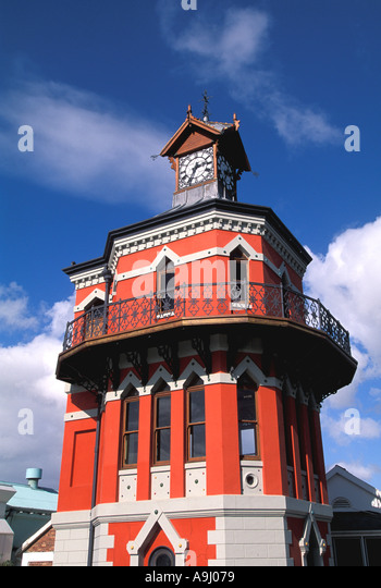 South Africa Cape Town Victoria Alfred Waterfront Clock Tower - Stock Image