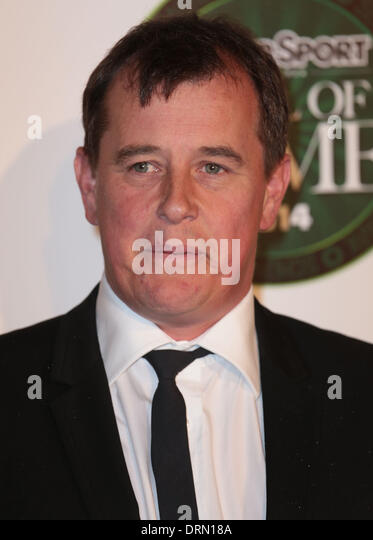 London, UK, 29th January 2014 Motorcycle racer, John McGuinness, attends MotorSport Magazine Hall of Fame award - Stock Image