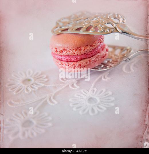 Sweet Macarons Paper Background - Stock-Bilder