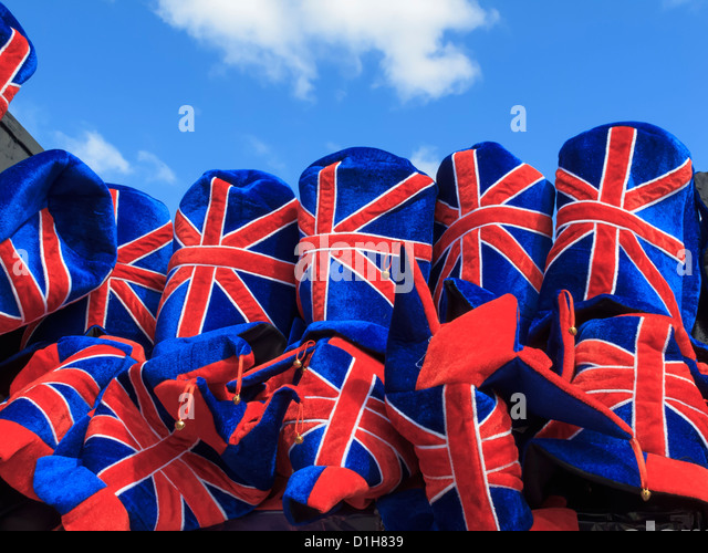Union Jack Souveniers Westminster London England - Stock Image