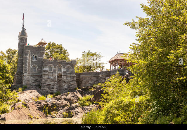 belvedere castle central park stock photos belvedere