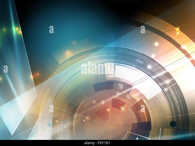 Scientific Future Technology. For Business Presentation. Flyer, Poster Vector Concept Background - Stock Image