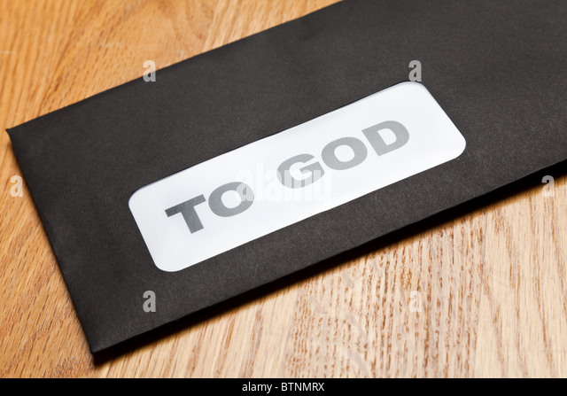 Mail to God, concept of religion, belief - Stock Image