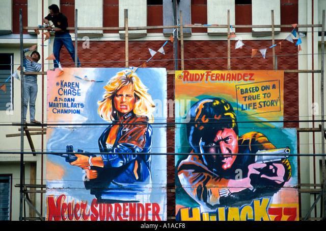 Violent cinema poster Manila, Philippines - Stock Image
